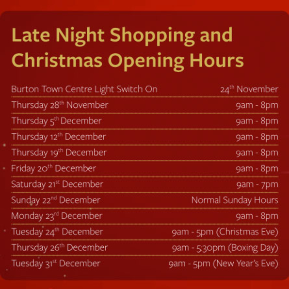 Late Night Shopping and Christmas Opening Hours
